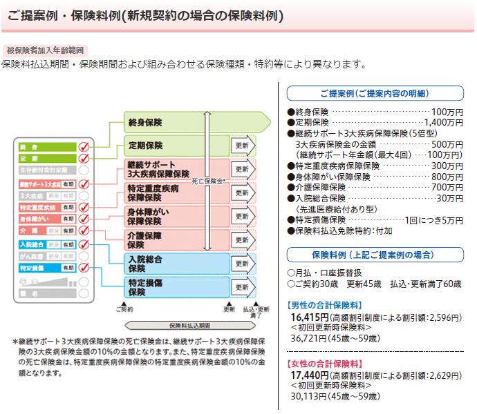 日本生命《みらいのカタチ》の保障組み合わせ例その2