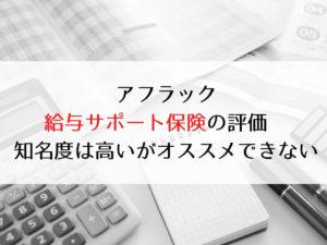 アフラック《給与サポート保険》の評価